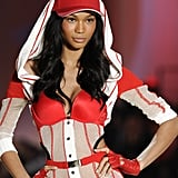 Chanel Iman was sporty-chic during the 2010 show.