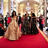 In March 2016, the girls attended their very first state dinner in honor of Canada's prime minister Justin Trudeau at the White House.