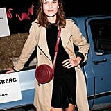It's decided: there is no situation in which Alexa Chung's hair doesn't look incredible. And paired with glossy pink lips and matching polish, this look was downright flawless.