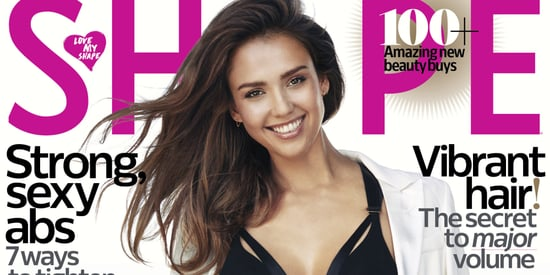 Jessica Alba Stuns In Sexy Black Swimsuit On Shape Magazine Cover
