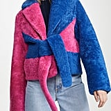 Saks Potts Colorblock Shearling Jacket