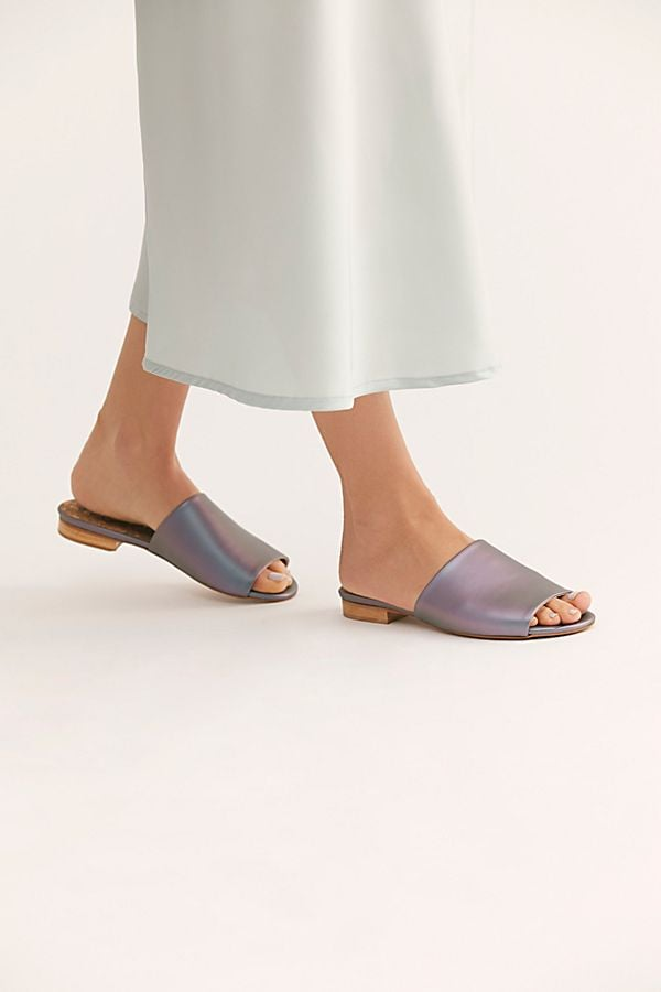 Sydney Brown Vegan Slide Sandals
