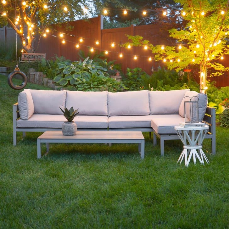 4 Day Furniture: Gray 4-Piece All-Weather Patio Set With Cushions