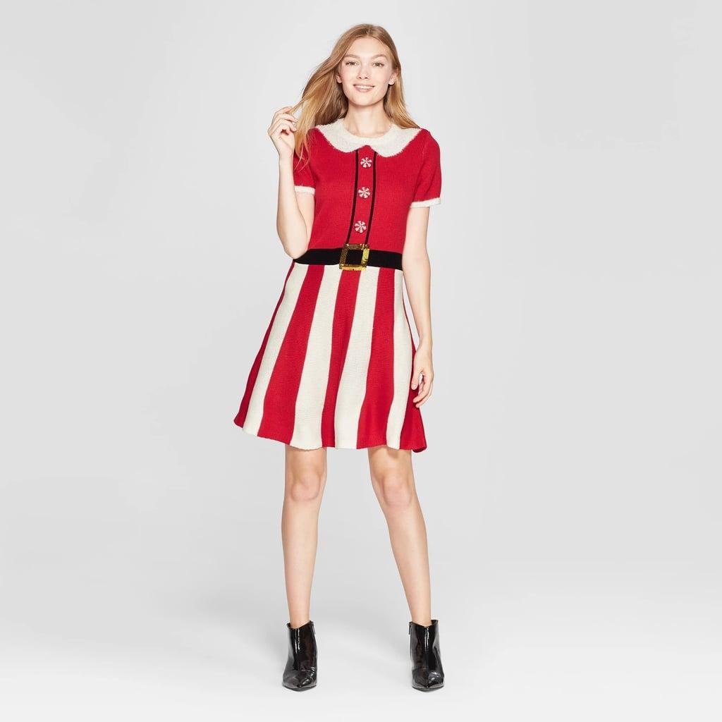 b9c4e0ba2ff Women s Christmas Candy Cane Dress