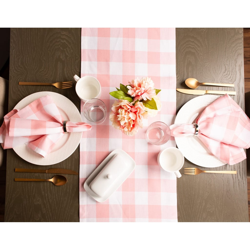 Pink Buffalo Check Table Runner