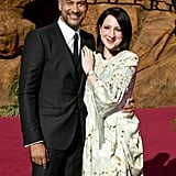 Pictured: Keegan Michael-Key and Elisa Pugliese at The Lion King premiere in Hollywood.