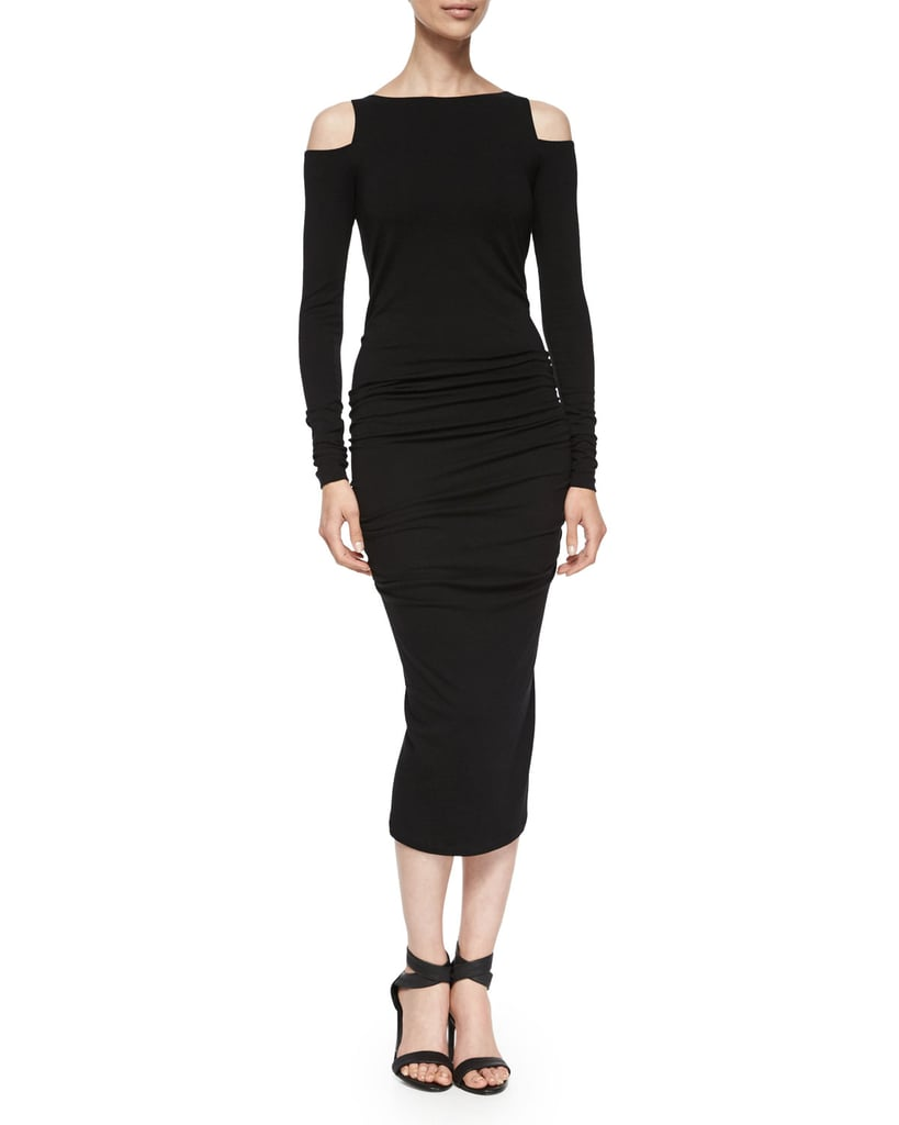 Donna Karan Long-Sleeve Cold-Shoulder Sheath Dress ($1,895)