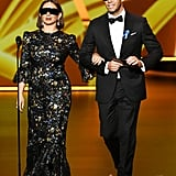 Maya Rudolph and Ike Barinholtz at the 2019 Emmys
