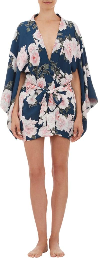 Fleur du Mal Floral Print Silk Kimono