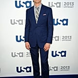 Matt Bomer looked great in a blue suit.