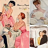 Vintage Wedding Ads Make Your Housewife Dreams Come True Wedding season is all around us, and we share plenty of tips here on POPSUGAR Sex & Culture for how to be a modern bride and bridesmaid. But sometimes we like to take a look back at what it was like to walk down the aisle back in the day. Looking through these vintage wedding ads, I gather that the best way to secure a husband and have the wedding of your dreams involved a lot of soap, silverware, and toasters. Check out these retro ads now, and see how the advertisers of the Mad Men era caught the attention of brides and brides-to-be!