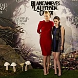 Charlize Theron and Kristen Stewart posed together for the Snow White and the Huntsman photocall in Madrid.