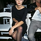 At the VH1 Fashion Awards in 1995, wearing a simple black dress.