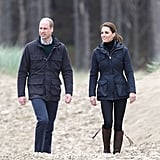 Kate Middleton and Prince William in North Wales May 2019