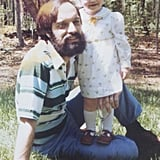 """My dad has always loved wearing his favorite jeans and a t-shirt. He also rocked a super-stylish beard until I was about 6 — I still remember crying the day he shaved it off."" — Kim Timlick, entertainment director"