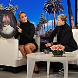 Jennifer Lopez Black Cutout Dress on Ellen