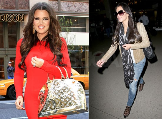 Pictures of Khloe Kardashian in NYC and Kim Kardashian Arriving Back in LA