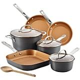 Ayesha Curry Hard Anodized Aluminum 10-Pc Cookware Set