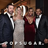 Pictured: Jimmy Kimmel, Ciara, Molly McNearney, and Russell Wilson