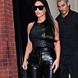 Kim Kardashian's Dark Hair Colour