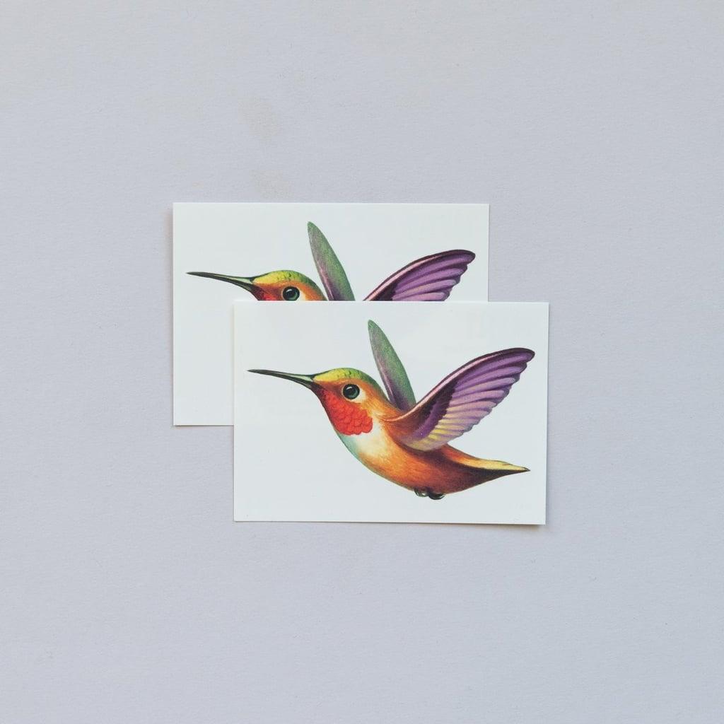 Tattly Hummingbird Tattoo