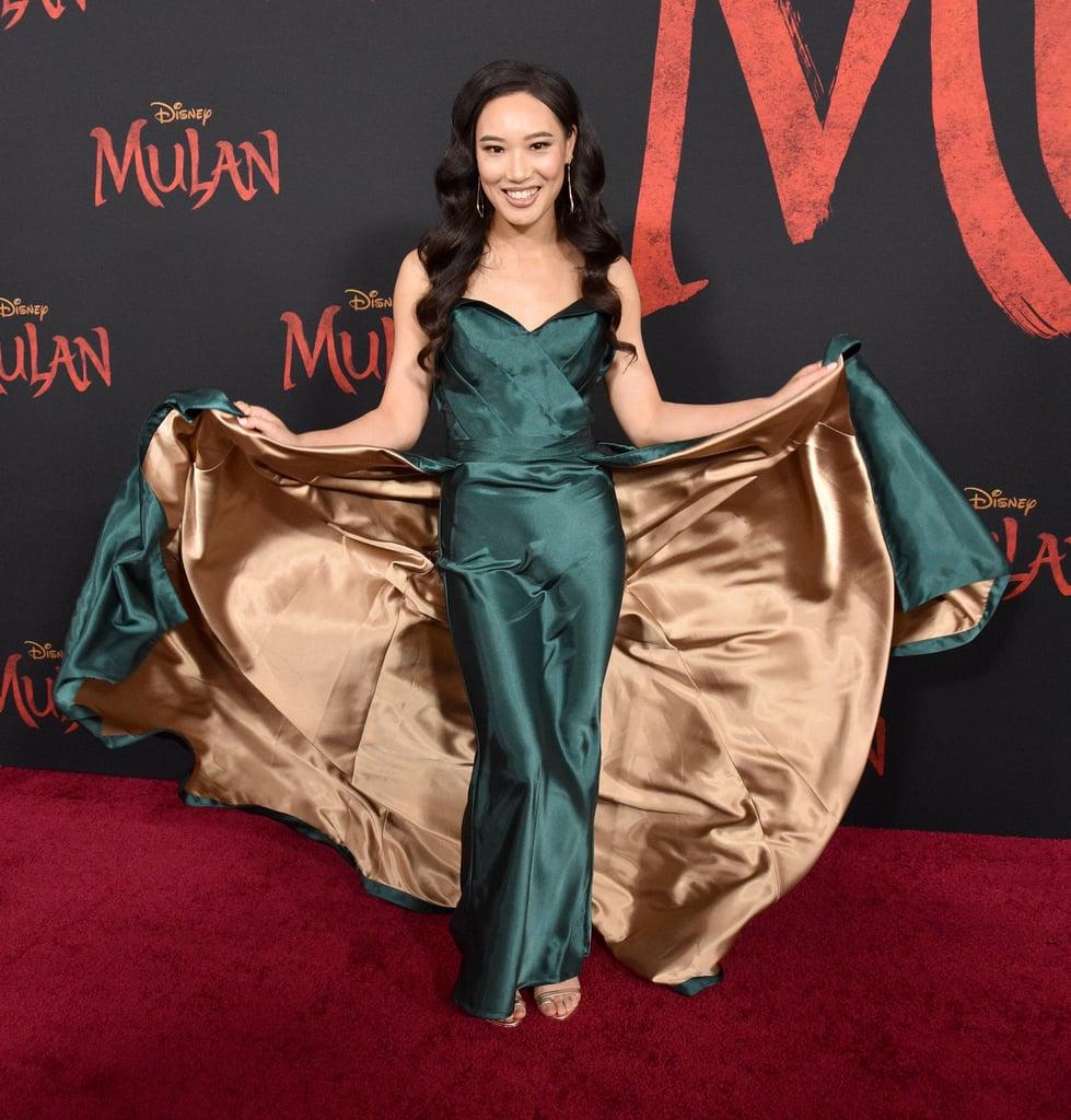 زانا تانغ في العرض العالمي الأول لفيلم مولان في لوس أنجلوس