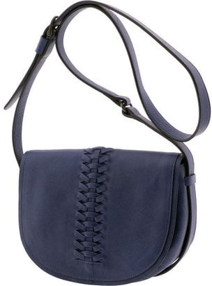 Banana Republic Blue Leather Saddle Bag
