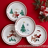 Ceramic Rudolph Plate Set