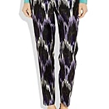 These Michael Michael Kors ikat pants ($175) are so standout, all they need is a simple black or white tee with dazzling metallic sandals.