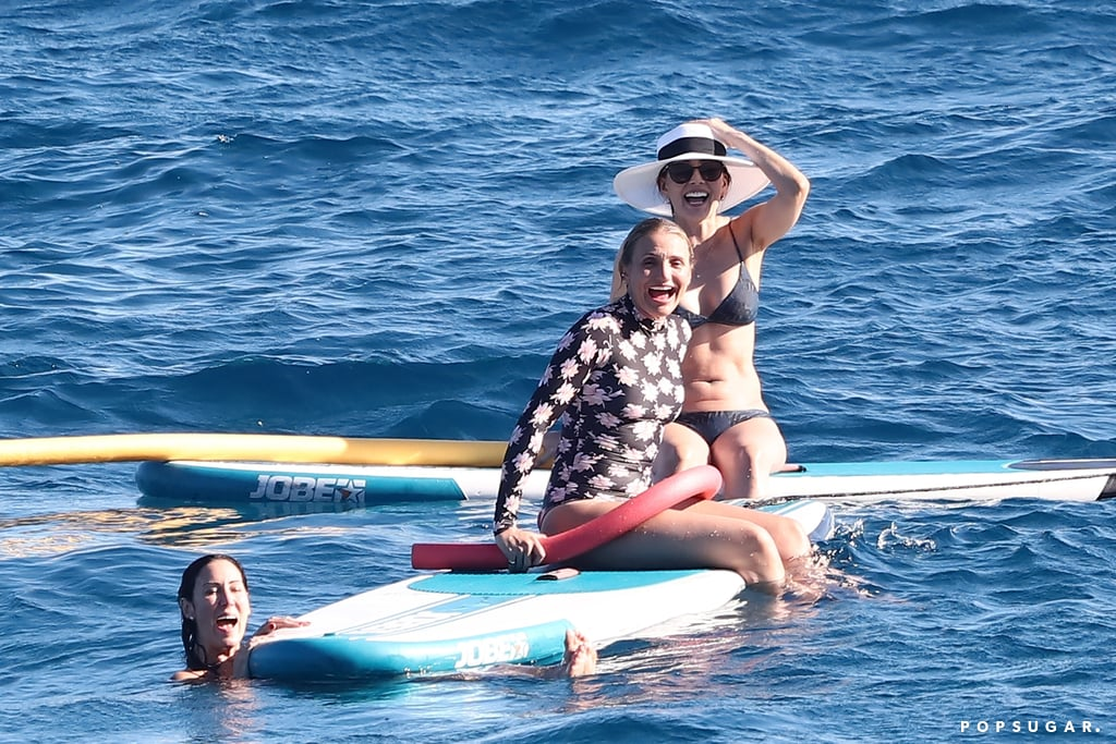 Cameron Diaz Is a Ray of Sunshine in Her Floral Wetsuit on Vacation in France