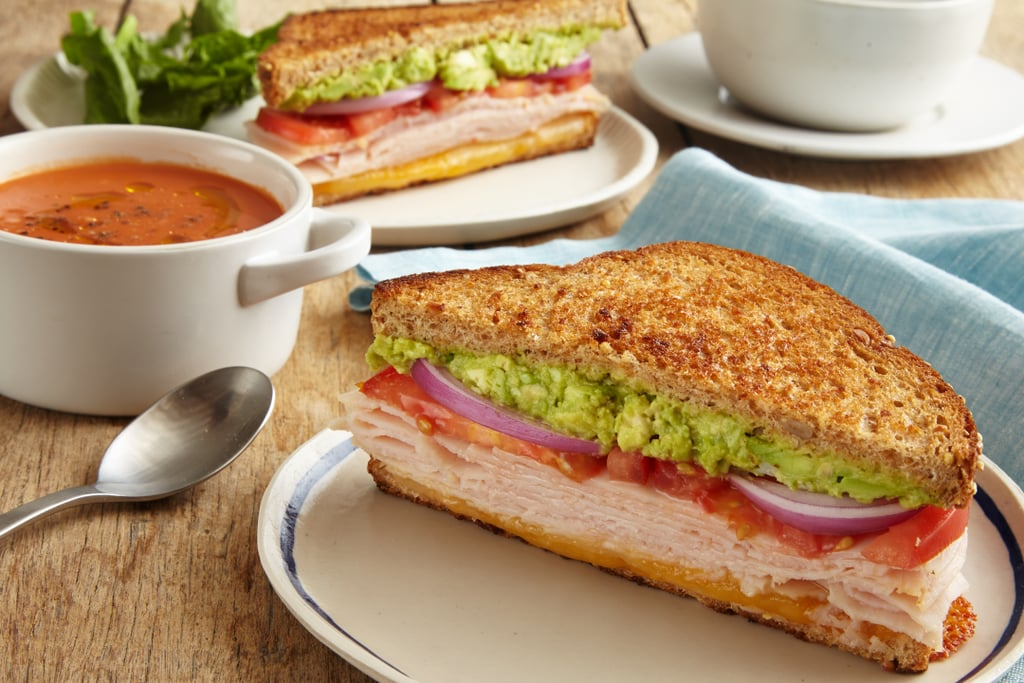 Turkey Melt and Tomato Soup