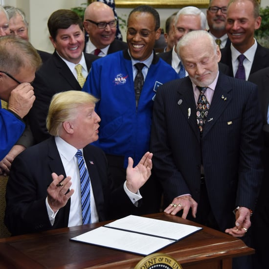 Buzz Aldrin Reacts to Donald Trump Talking About Space