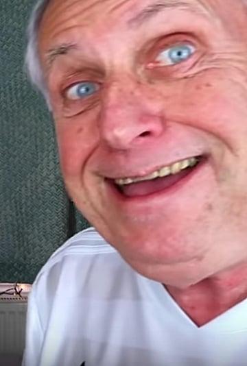 Video of Grandpa Doing His Granddaughter's Makeup