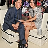 Aubrey Plaza got comfortable inside the Met Gala on Monday.  Source: Billy Farrell/BFANYC.com