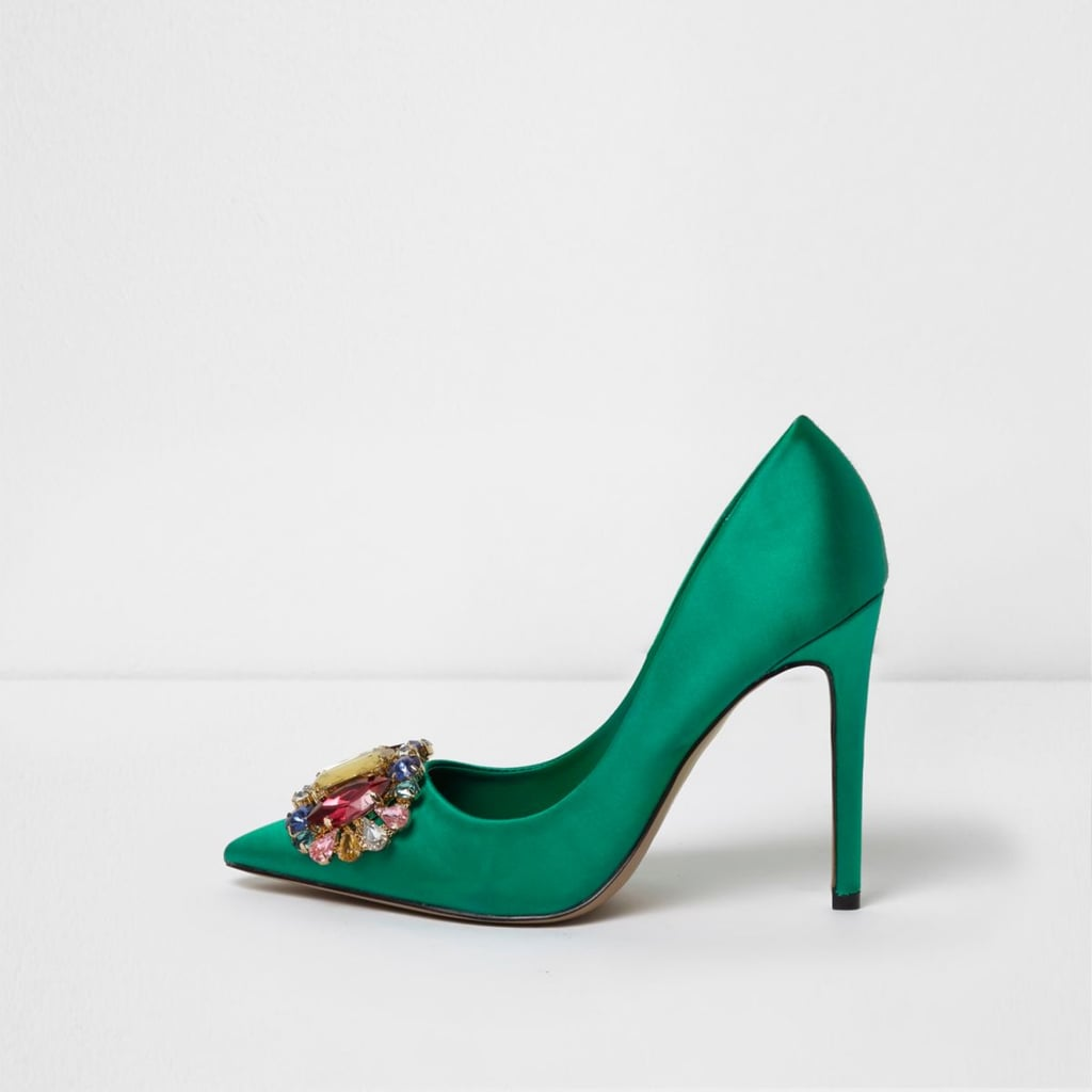 Our Pick: River Island Green Embellished Shoes
