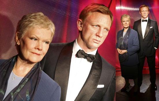 Photos Of Waxwork James Bond Figures Judi Dench and Daniel Craig