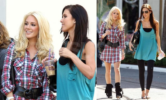 Photos of Audrina Patridge and Heidi Montag Filming The Hills at Crate & Barrel in LA
