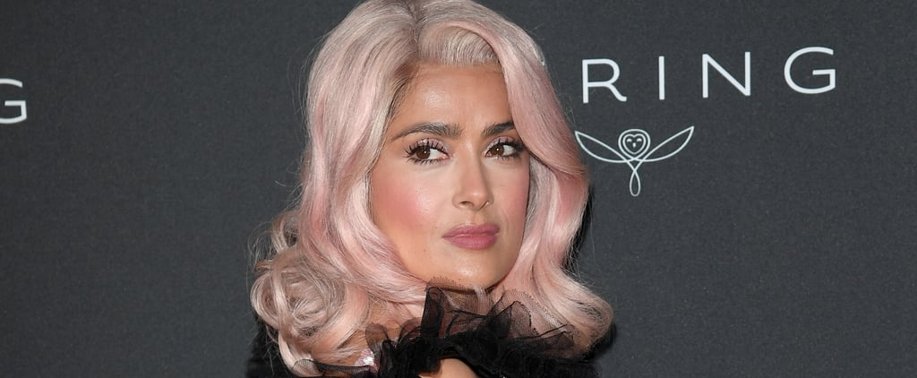 Salma Hayek Gets on the Millennial Pink Bandwagon With This Hair Color