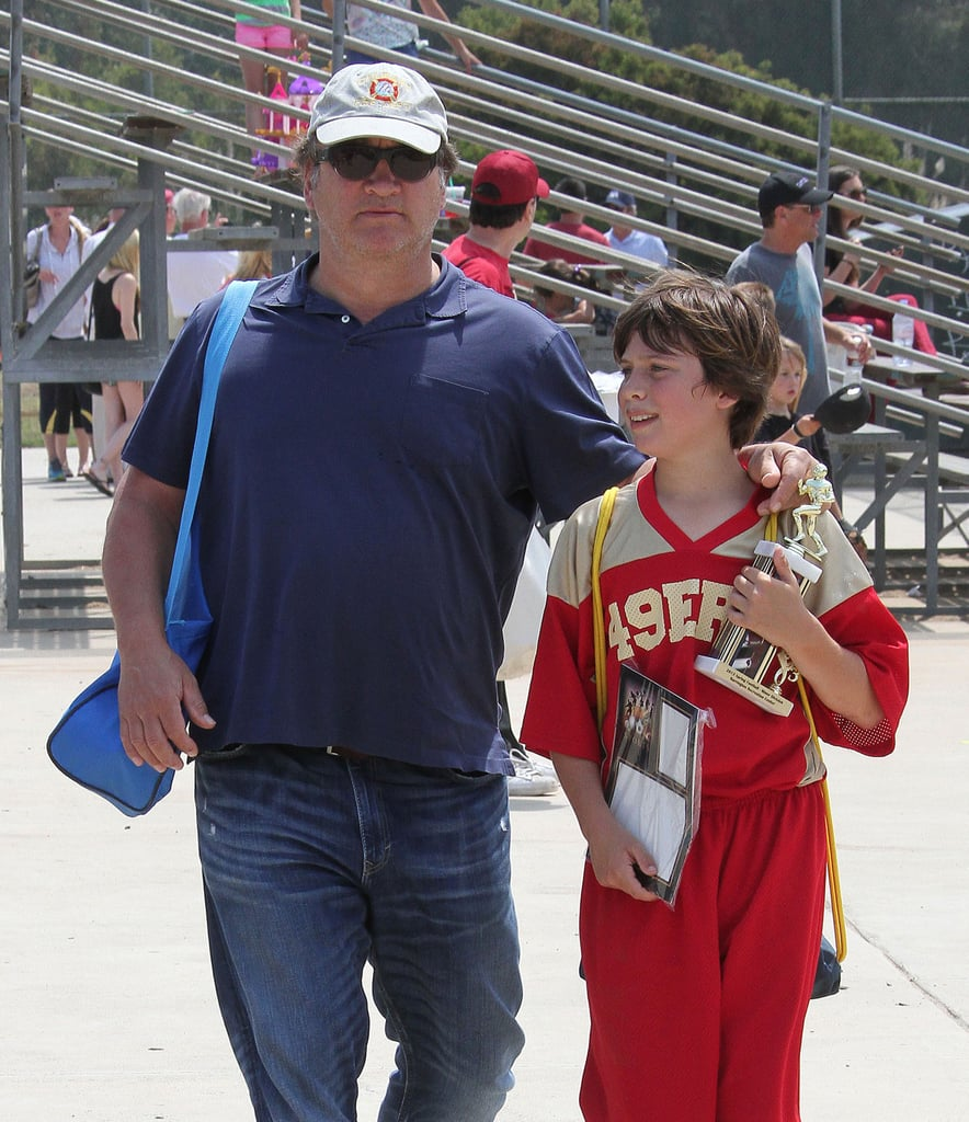 Jim Belushi watched his son Jared's football game in LA.