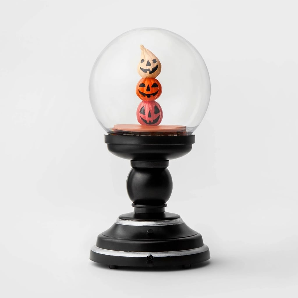 Animated Swirling Crystal Ball Pumpkin Stack