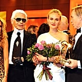 Karl was by Diane's side at the 2008 Bambi Awards.