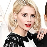 Lucy Boynton's Pearl-Embellished Side Part at the 2020 Oscars
