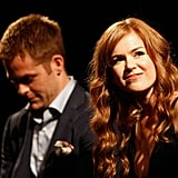 Isla Fisher and Chris Pine attended a Q&A session for Rise of the Guardians.