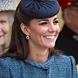 During a Diamond Jubilee visit to Nottingham in 2012, Kate Middleton wore this prim little topper.