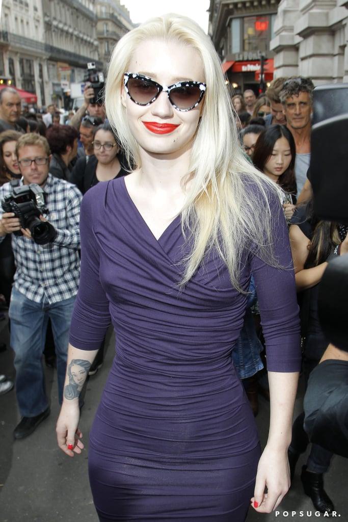 Iggy Azalea turned up at the Vivienne Westwood runway show.