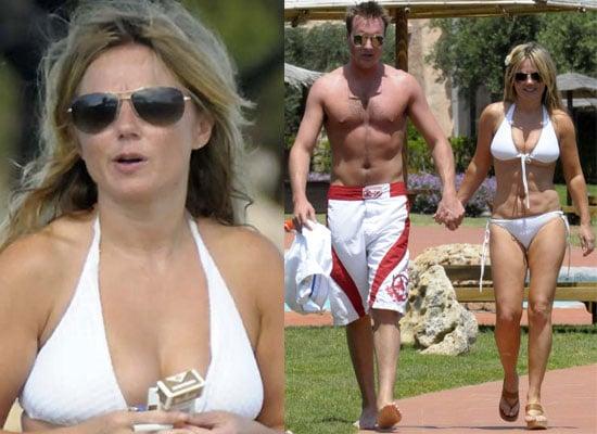 8/6/2009 — Bikini-Clad Geri Halliwell and Henry Beckwith