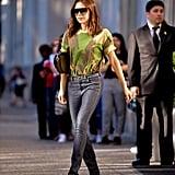 Victoria Beckham in Camo T-Shirt