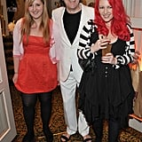 Honey Kinney, Jonathan Ross and Jane Goldman