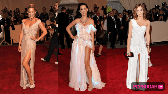 High Slit Dresses at the 2010 Costume Institute Gala
