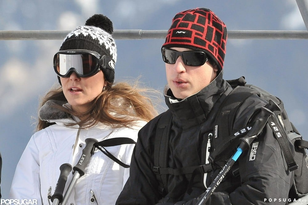 Prince William and Kate Middleton vacationed in the French Alps in March 2010.